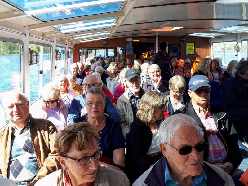 Seniorerna i SPF Husby besökte Fjäderholmarna