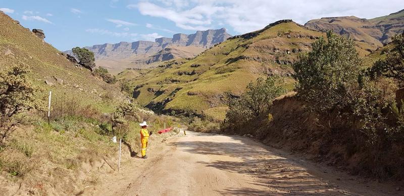 Mot Drakensberg och Leshoto