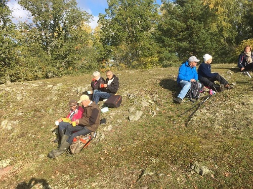 Vandring vid Dagnäsöns naturreservat.