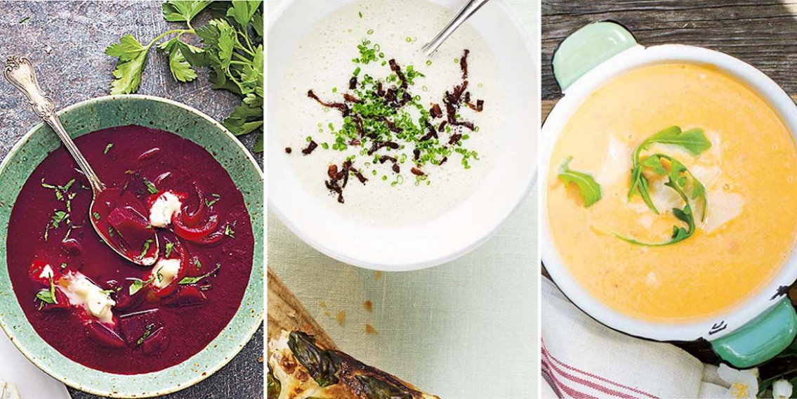 Varm soppa och bröd