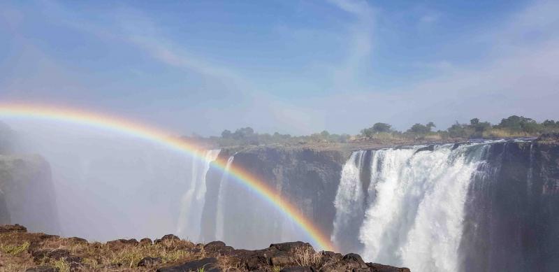Vi lämnar Botswana och åker in i Zimbabwe