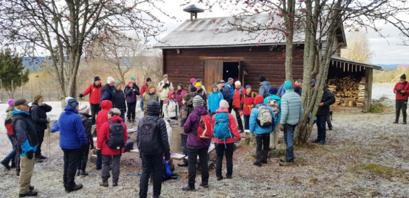 62 vandrare från SPF Seniorerna Falun vid långvandringsstart!