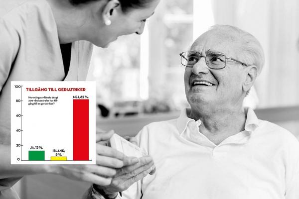 Åtta av tio vårdcentraler saknar geriatriker