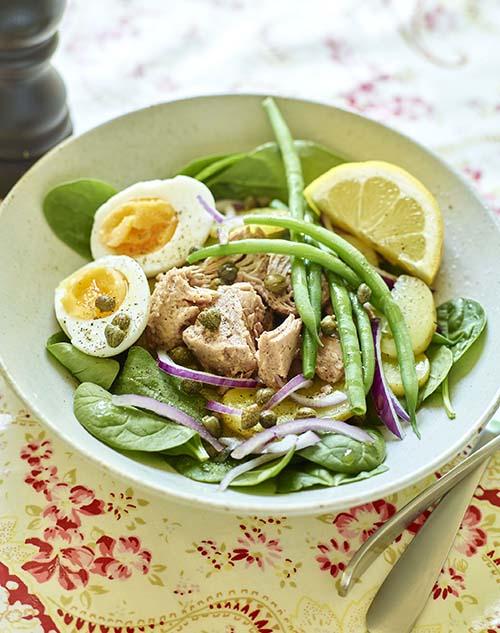 Nizzasallad med tonfisk och ägg