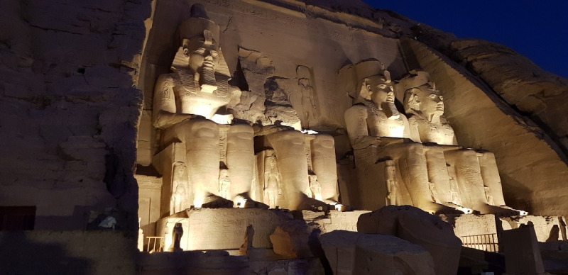 Templen i Abu Simbel