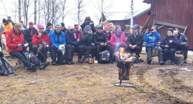 SPF Seniorerna Faluns långvandring i Boda Svärdsjö 10 mars