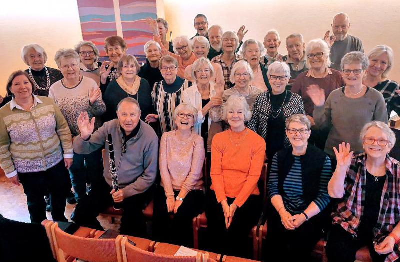 SPF-kören Treklangen i Mölndal 35 år