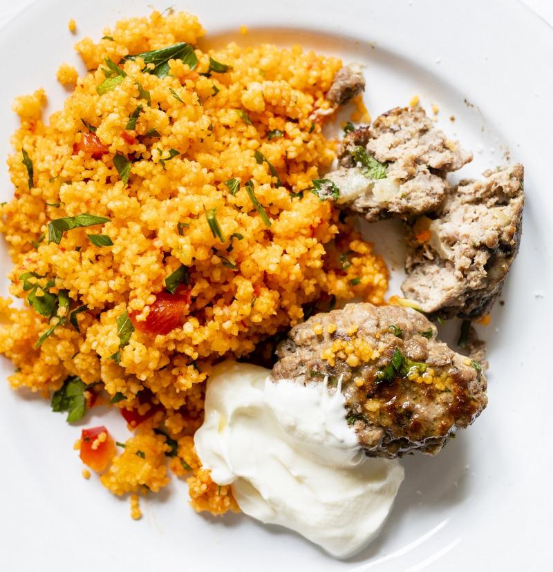 Buljongkokt couscous med ajvar