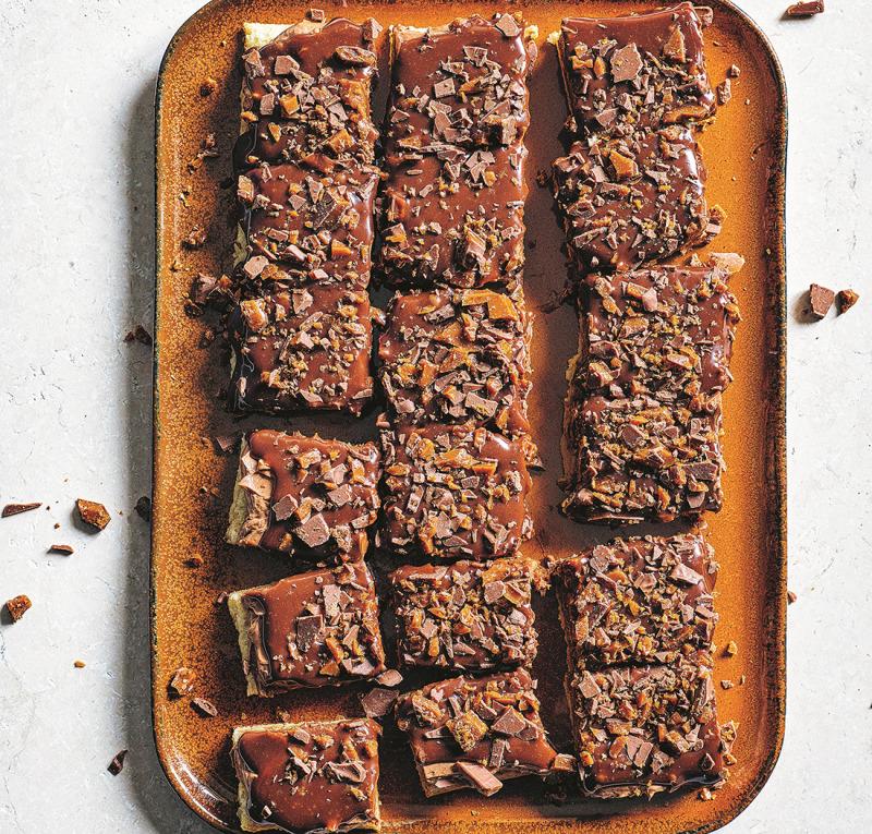 Chokladbiskvi i långpanna