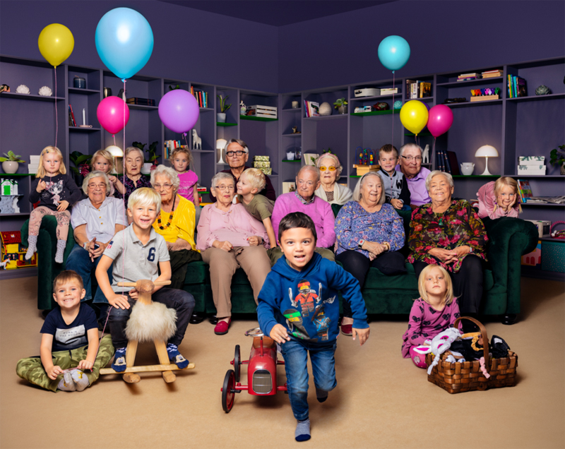 Glädje när 4-åringarna flyttar in på äldreboendet