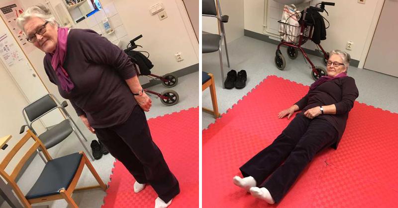 Linnea, 82, har tränat på att ramla rätt – det räddade henne när hon föll
