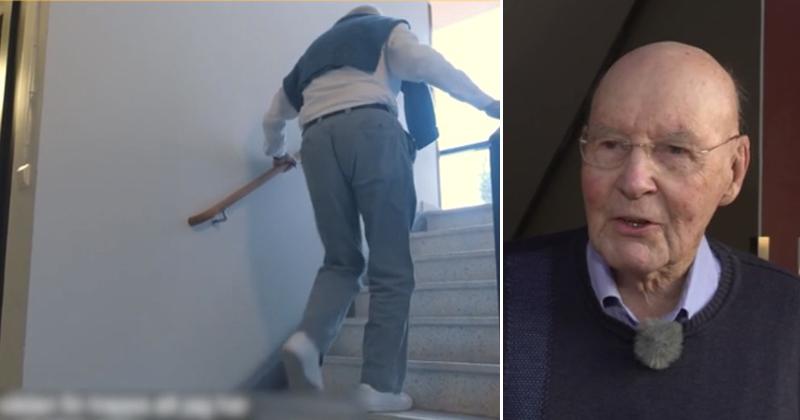 Per Anders, 93, tar trapporna – och mår bättre