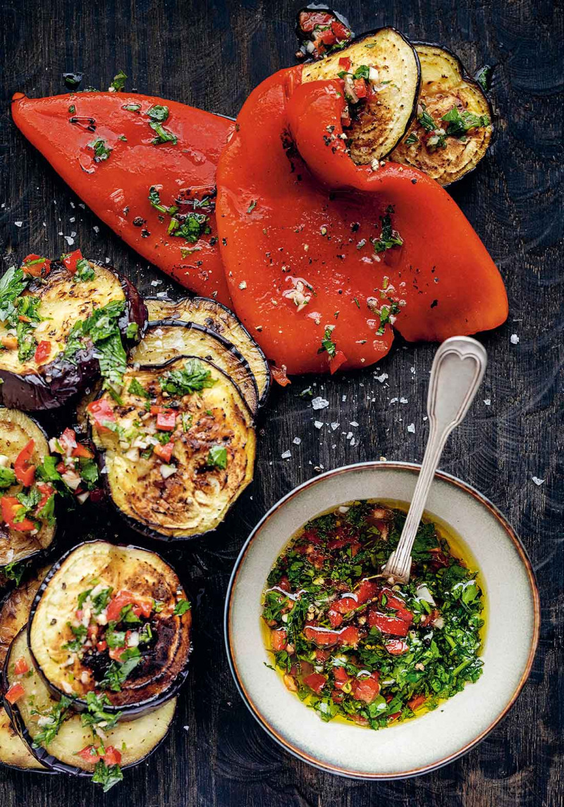 Fantastisk aubergine med chermoula