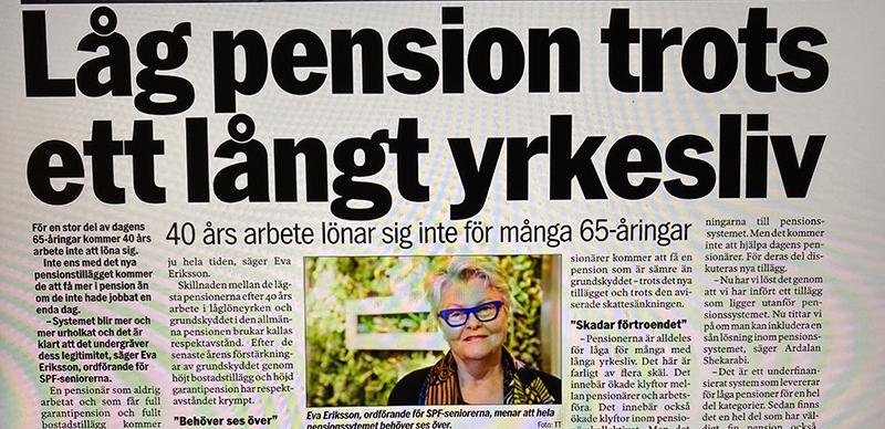 Ministern efter SPF Seniorernas granskning: Pensionerna måste höjas