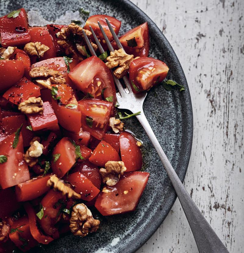 Marockansk sallad med valnötter