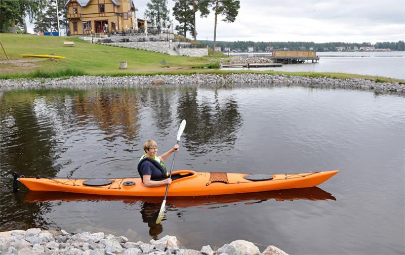 Kajakpaddling lockade många i SPF Seniorerna Falun