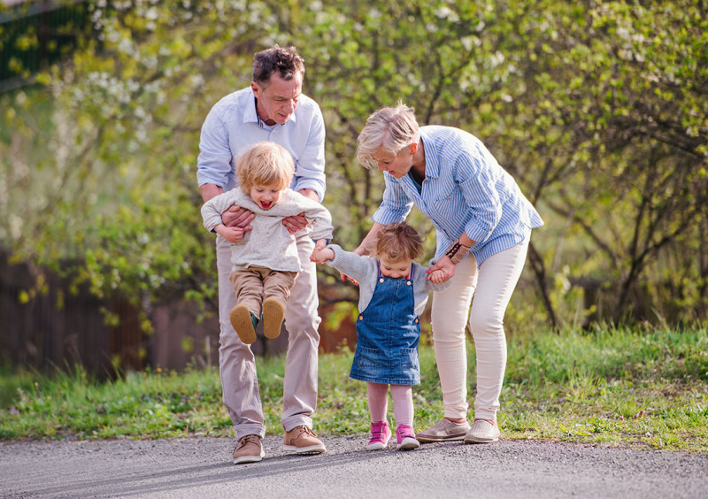 Utflykt med barnbarnen
